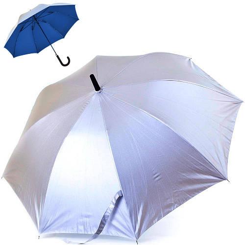 Женский зонт-трость двусторонний полуавтомат FARE (ФАРЕ) FARE7119-silver-navy