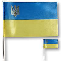 Флажок (прапорець) Украины с тризубом