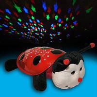 Ночник проектор звездного неба Божья коровка музыкальный Cartoon Ladybird Night Sky Constellation