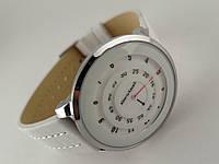 Часы женские Alberto Kavalli необычный циферблат - белые