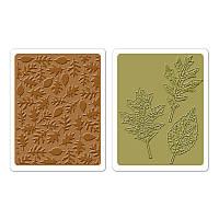 Папки для тиснения Sizzix 2PK - Textured Leaves Set , 658251