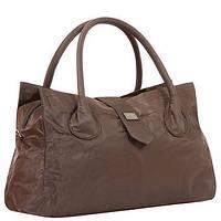 Дорожная сумка - саквояж Epol большая коричневая в наличии