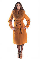 Женское зимнее пальто с мехом