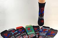 Носки детские махровые с персонажами мультфильмов Спайдермен