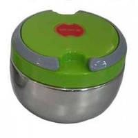 Пищевой термос судочек 0,7 л Зеленый, ланч бокс