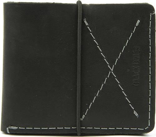Ультратонкий мужской кожаный кошелек Black Brier П-8-35 черный