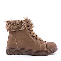 Женские утепленные ботиночки на низком ходу