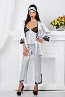 Пижама женская шелковая, халат шелковый Komilfo Rim