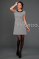 Платье в полоску черный/белый