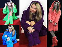 Комплект Махровый халат + тапочки-сапожки