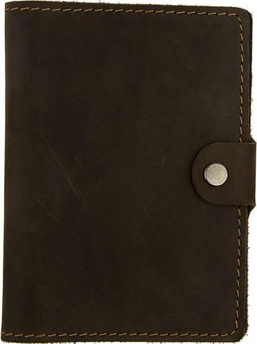 Кожаная обложка для документов с застежкой Black Brier ОП-3-33 коричневая