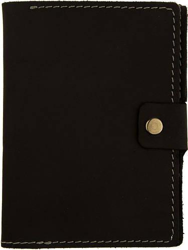 Черная кожаная обложка для документов с отделением для купюр Black Brier ОП-5-35