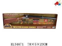 Детское ружье механическое на батарейках 2801B