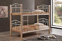 """Двухъярусная кровать """"Миранда крем"""" из натурального дерева"""