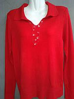 Пуловер  женский из кашемира красного цвета