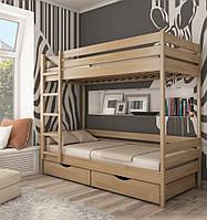 """Кровать двухъярусная """"Дуэт"""" из натурального дерева"""