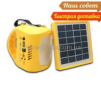 Фонарь светодиодный на солнечных батареях + USB Зарядка + FM Радио