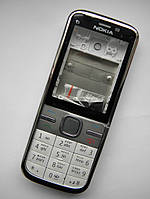 Корпус Nokia C5 00 белый + клавиатура class AAA