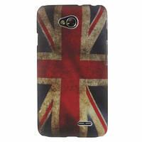 "Чехол пластиковый на LG L70 Dual D325, D320 ""Ретро флаг Британии"""