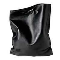 Сумка-тоут из натуральной кожи, черная