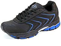 Bona мужские кроссовки черные нубук  подошва пена, фото 1