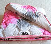 Одеяло стеганое облегченное (бязь) 100% шерсть Vladi