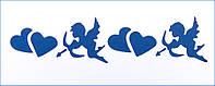 "Трафарет многоразовый ""Купидон и Сердце"" 10х25см.(код 03287)"