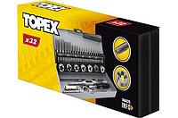 Плашки и метчики, M3 - M12, набор 20 шт. TOPEX