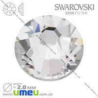 Стразы Swarovski 2038 (без фольги) Crystal, HotFix, SS6 (2,0 мм), 1 шт. (STR-009821)