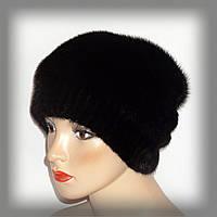 Меховая норковая женская шапка