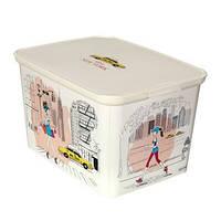 Декоративный ящик для хранения Curver Decos Miss New York L