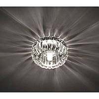 Точечный декоративный светильник с кристалом Feron С1010 прозрачный хром