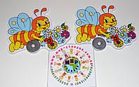 Магнитный стенд для крепления рисунка Пчелка с букетом