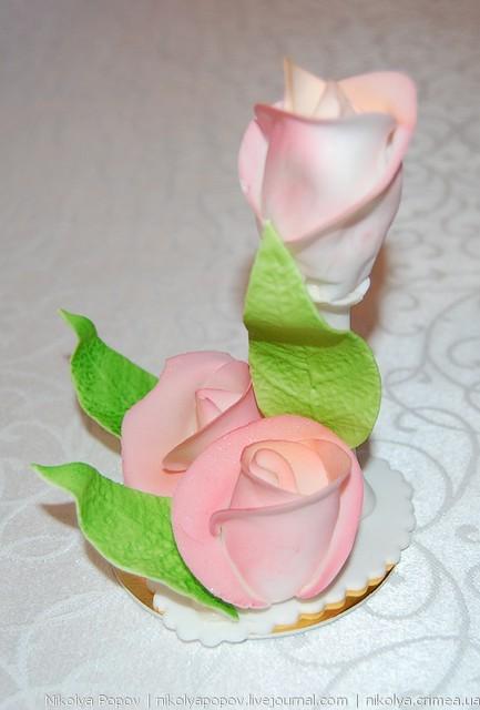 Как сделать цветы для торта из сахарной пудры