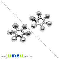 Бусина-разделитель мет., 8 мм, Античное серебро, 1 шт (BUS-004961)
