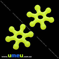 Бусина-разделитель пластиковая, 10 мм, Лимонная, 1 шт. (BUS-008824)
