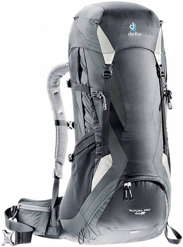 Походный туристический рюкзак 44+5 л. для высоких людей FUTURA PRO 44 EL DEUTER, 33224 7410 черный