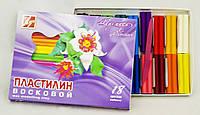 Пластилин восковой Луч Премиум 18 цветов