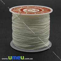 Нейлоновый шнур (для браслетов Шамбала), Белый, 1,0 мм, 1 м. (LEN-004002)