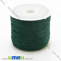 Нейлоновый шнур (для браслетов Шамбала), Темно-зеленый, 1,0 мм, 1 м. (LEN-003381)
