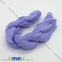 Нейлоновый шнур (для браслетов Шамбала), Сиреневый, 1,5 мм, 1 м. (LEN-003400)