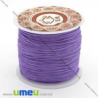 Нейлоновый шнур (для браслетов Шамбала), Сиреневый, 1,0 мм, 1 м. (LEN-003379)