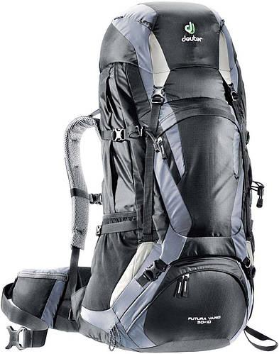Походный рюкзак 50+10 л. для туризма, треккинга FUTURA VARIO 50+10 DEUTER, 34314 7490 черный