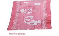 Плед Merinos Pio Pio розовый для новорожденного.