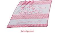 Плед Merinos Sweet розовый для новорожденного.