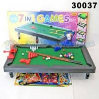 Настольный бильярд 30037 набор игр 7 в 1. бильярд, гольф, хоккей, боулинг, баскетбол,стокер, тарджет.