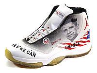 Jordan кроссовки баскетбольные белые американский флаг, фото 1