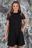 Очень красивое коктейльное платье с гипюром №459