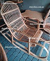 Кресло качалка из лозы большая плетеная