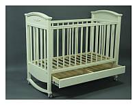 Детская кроватка Napоleon VIP с ящиком сл. кость/белая
